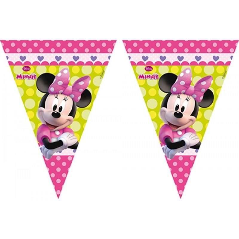 Festone Minnie Con Bandierine Festa A Tema Disney Compleanno Bambini