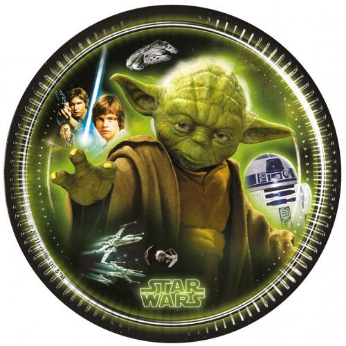 8 Piattini Festa Star Wars