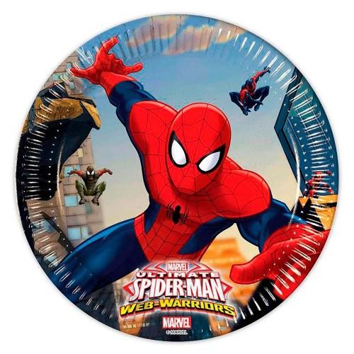 8 Piattini Festa Spiderman