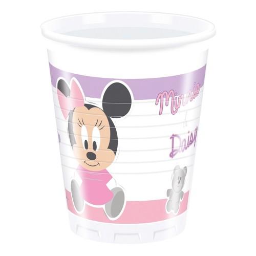 8 Bicchieri Festa Disney Baby Minnie