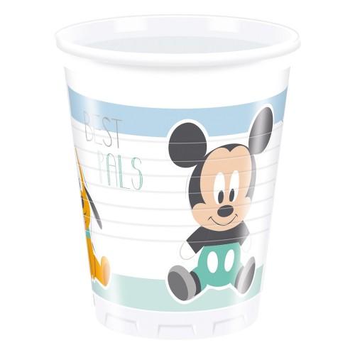 8 Bicchieri Festa Disney Baby Topolino