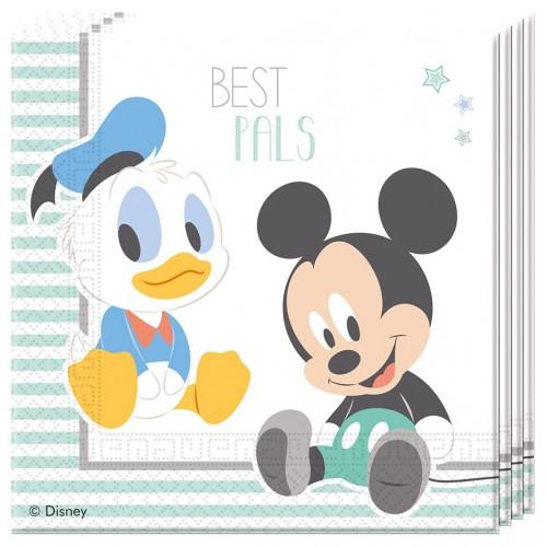 20 Tovaglioli Festa Disney Baby Topolino