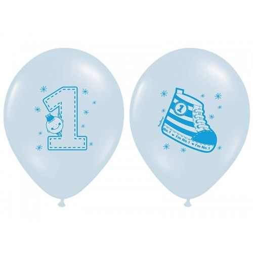 6 Palloncini Primo Compleanno Bambino