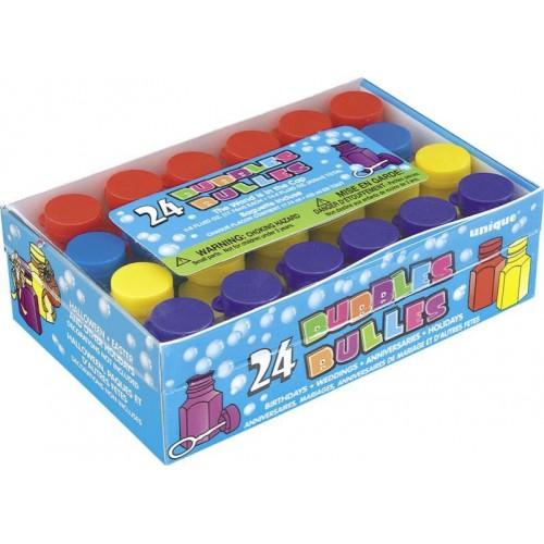 24 Mini Bolle di Sapone Festa