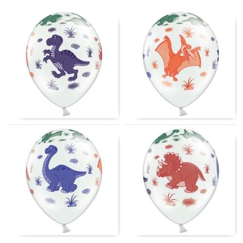 6 Palloncini Festa Dinosauri