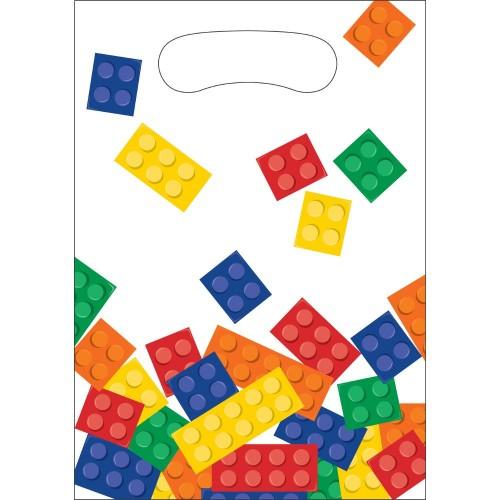 8 Borsine Festa Blocchi Lego