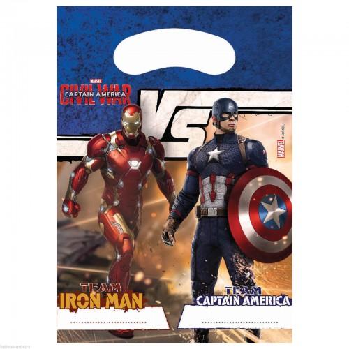 6 Borsine Party Captain America Civil War