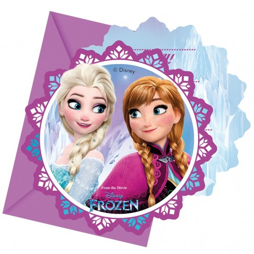 6 Inviti Festa Frozen