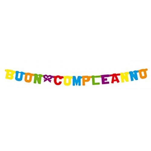 Festone Lettere Buon Compleanno 3,3 metri