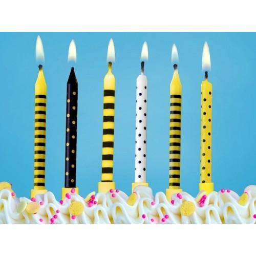 Candeline Compleanno Festa Ape 6pz