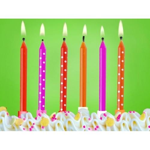 Candeline Compleanno Festa Coccinella 6pz