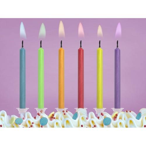 6 Candeline Compleanno Fiamma Colorata