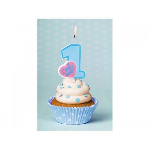 Candelina Numero 1 Primo Compleanno Bimbo