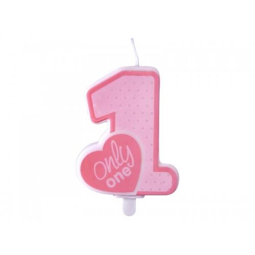 Candelina Numero 1 Primo Compleanno Bimba