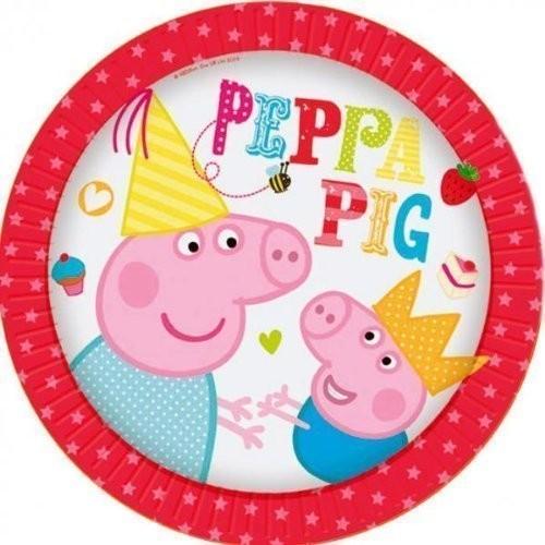 8 Piatti Festa Peppa Pig
