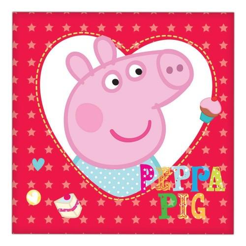 16 Tovaglioli Festa Peppa Pig