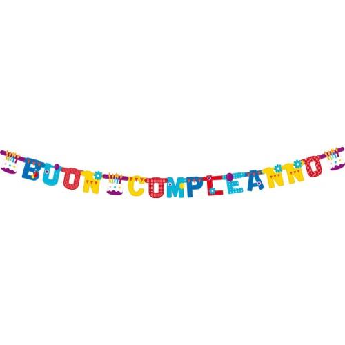 Festone Torta di Compleanno 2,65m
