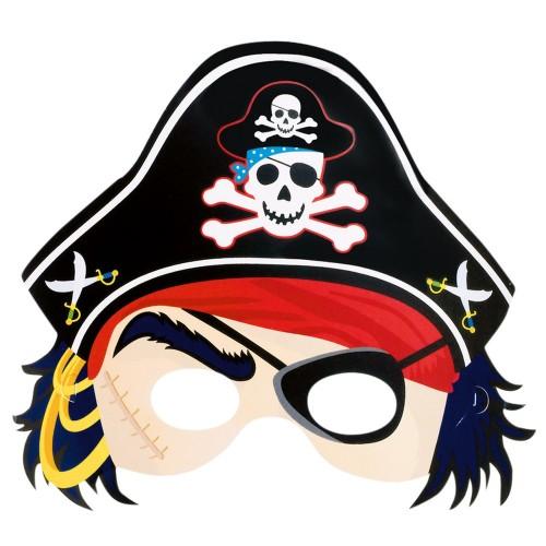 6 Maschere Festa Pirati