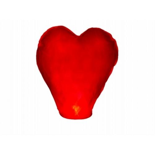 Lanterna Volante Cuore Rosso