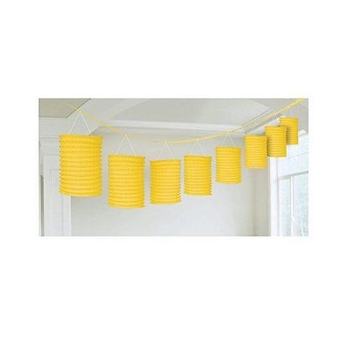Lanterne Gialle di carta a Ghirlanda