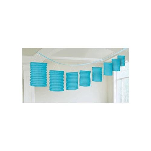 Lanterne Azzurre di carta a Ghirlanda