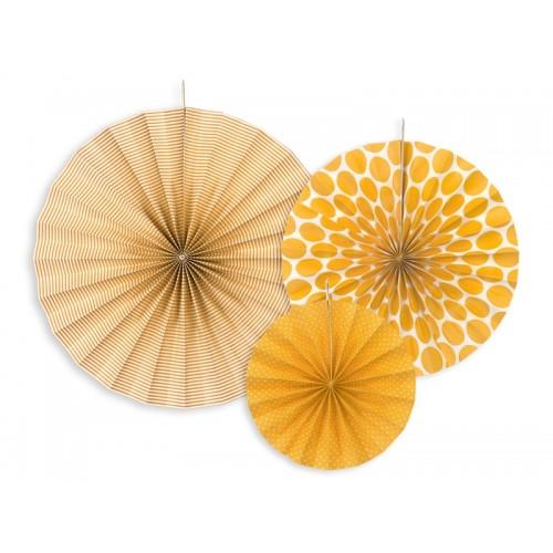 3 Rosoni Decorativi Gialli
