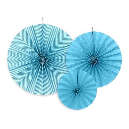 3 Rosoni Decorativi Azzurri