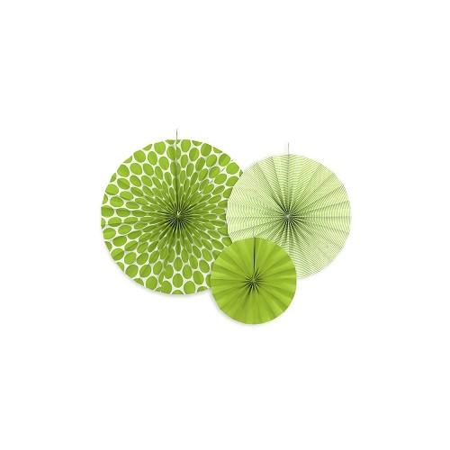 3 Rosoni Decorativi Verde Mela