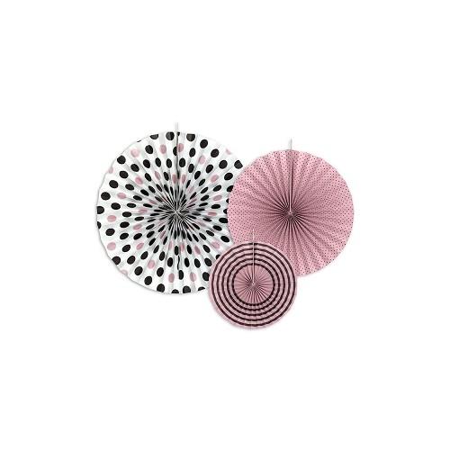 3 Rosoni Decorativi Rosa, Panna e Cioccolato