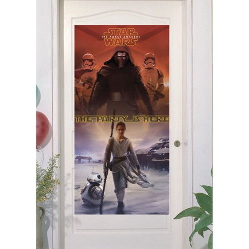 Decoro Porta in plastica Festa Star Wars