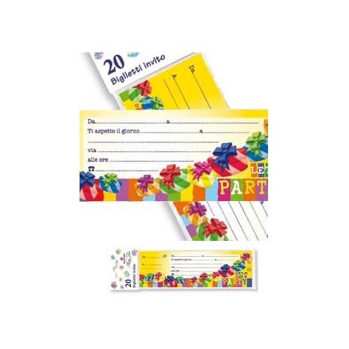 20 Biglietti Inviti Festa Compleanno