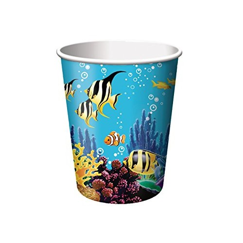 8 Bicchieri di Carta Festa Oceano