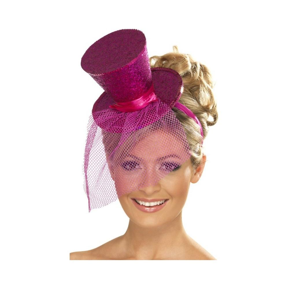100% autenticato ben noto acquistare Cappello Fuxia con cerchietto e velo festa