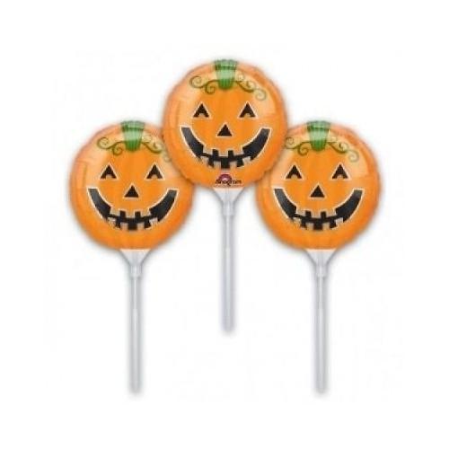 3 Mini Palloncini Zucca Halloween