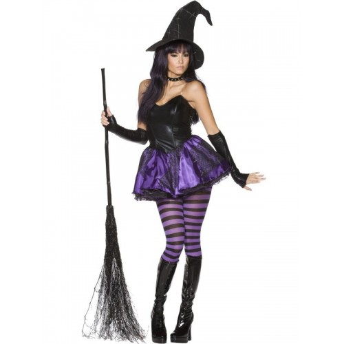 Costume Strega adulto Viola Halloween