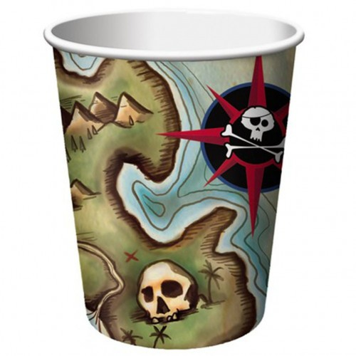 8 Bicchieri Festa Pirati
