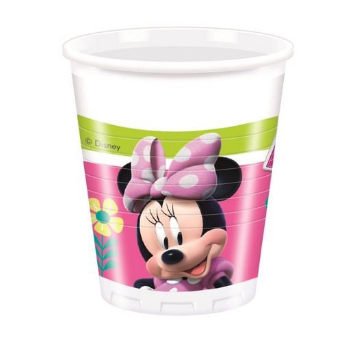 8 Bicchieri Disney Festa Minnie
