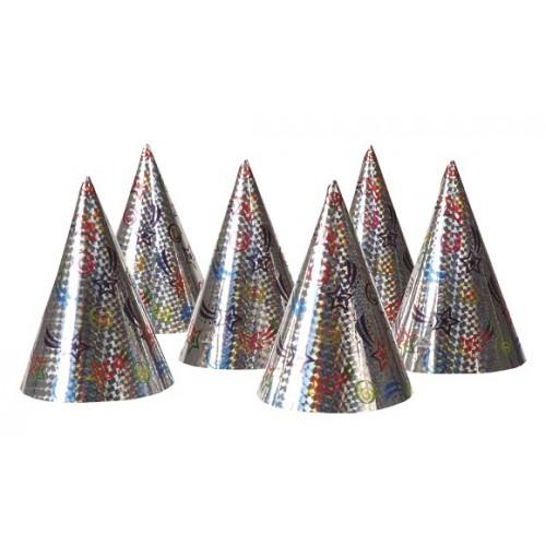 6 Cappellini cono Olografici