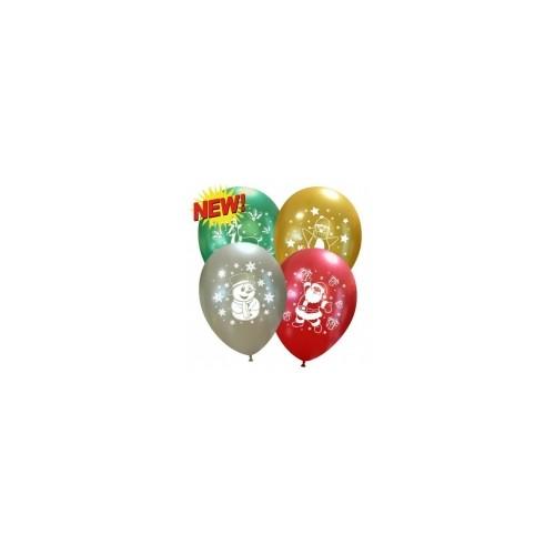 6 Palloncini Natalizi Figure e Colori Assortiti