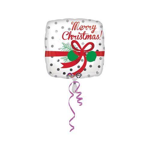 Palloncino Pacco Regalo Merry Christmas