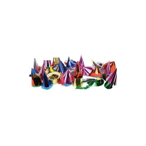 9 Cappellini Festa Assortiti Colori Metallizzati