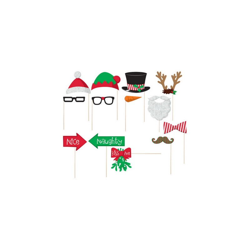 Photo Booth Natale Kit 13 pz