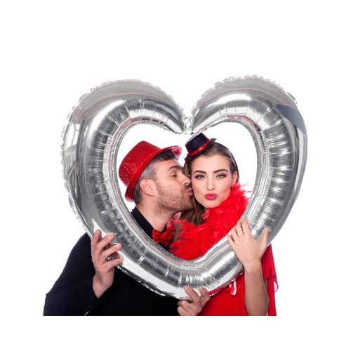 Pallone Cuore Photo Booth per Selfie