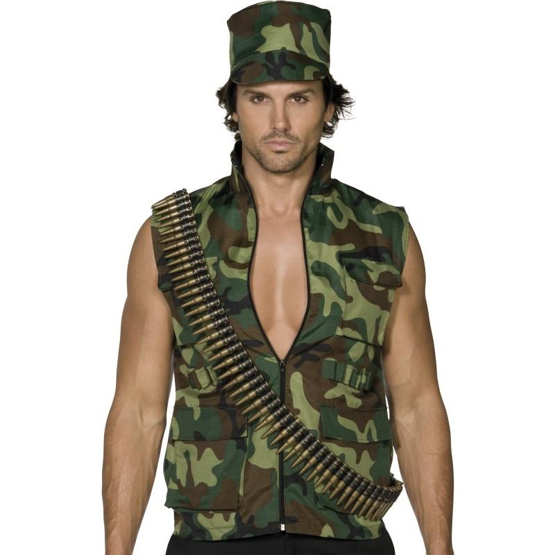 Costume da Militare con Giacca e Cappello