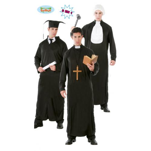 Costume 3 in 1 Laureato, Giudice e Prete