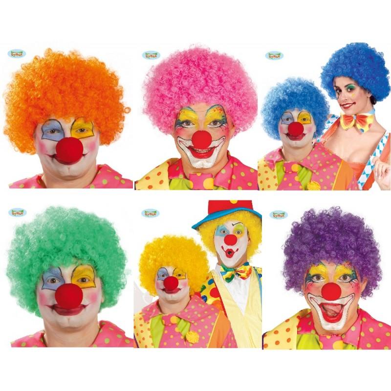 Parrucca Riccia Da Clown In Vari Colori Per Maschera Da Pagliaccio