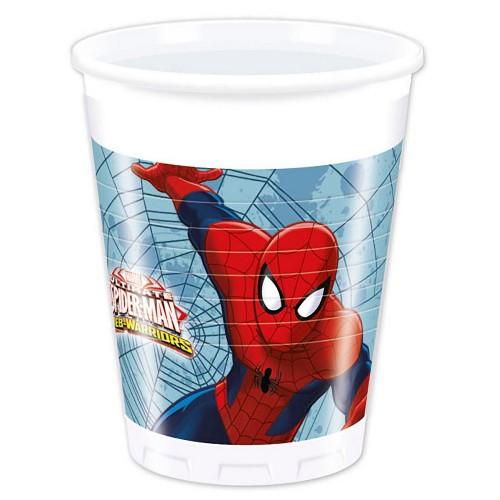 8 Bicchieri Festa Spiderman