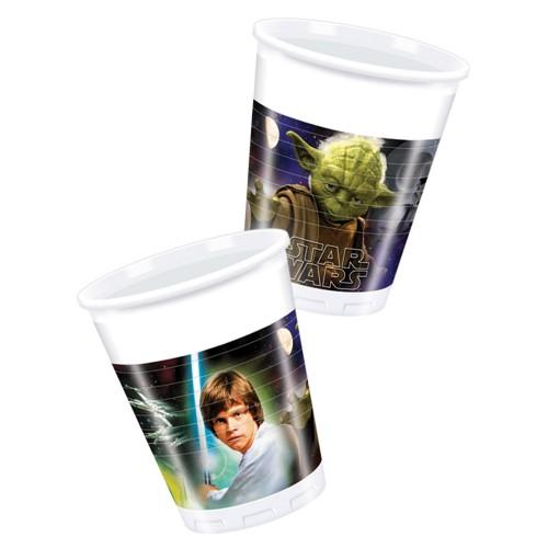 8 Bicchieri Festa Star Wars