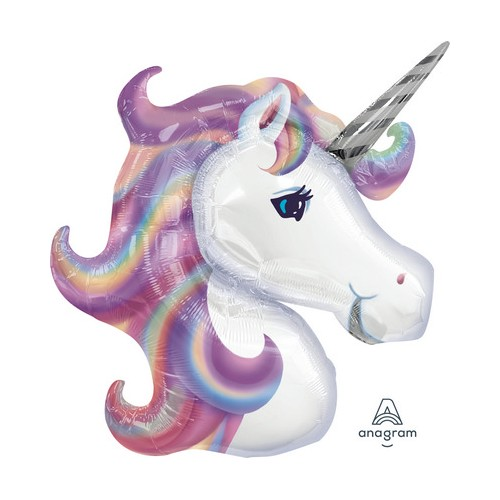 Palloncino Testa Unicorno tonalità lilla