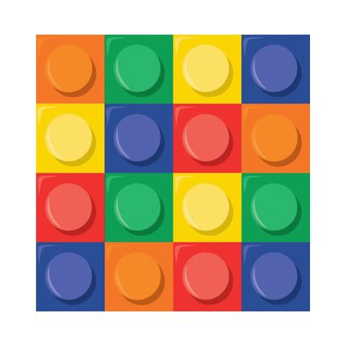 16 Tovaglioli Festa Blocchi Lego
